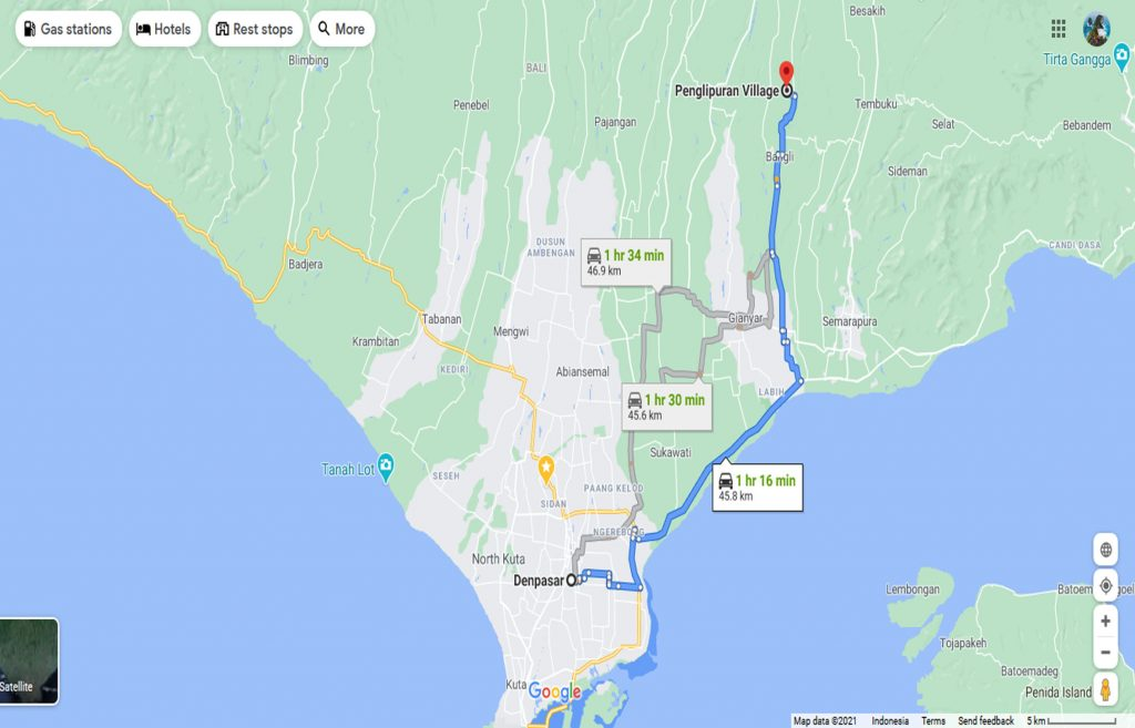 map desa penglipuran